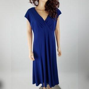 Jones New York Bright Blue Career Dress 16
